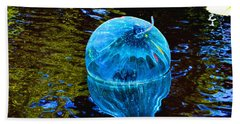 Artsy Blue Glass Float Bath Towel