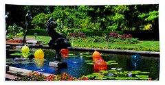 Chihuly Glass Balls In Missouri Botanical Garden Bath Towel