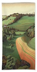 Chilcombe Bottom, Bath Oil On Canvas Hand Towel