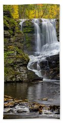 Childs Park Waterfall Hand Towel by Susan Candelario