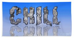 Bath Towel featuring the digital art Chill Digital Art Prints by Valerie Garner