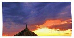 Chimney Rock Nebraska Hand Towel