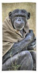 Bath Towel featuring the photograph Chimpanzee by Savannah Gibbs