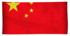 China Flag Vintage Distressed Finish Hand Towel