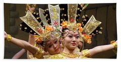 Chinese Dancers Perform Thousand Hands Guan Yin Bath Towel