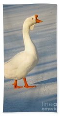 Chinese Goose Winter Bath Towel by Susan Garren