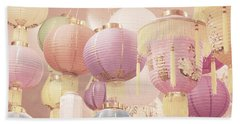 Chinese Lanterns Bath Towel