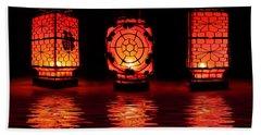 Chinese Lanterns Bath Towel