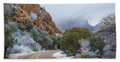 Chisos Winter Road Hand Towel