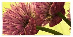 Chive Macro Beauty Hand Towel by Sandra Foster