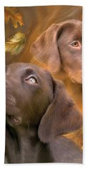 Chocolate Lab Bath Towel
