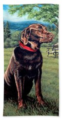 Chocolate Lab Hand Towel