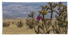 Cholla Cactus And Jemez Mountains 2 - Santa Fe New Mexico Bath Towel