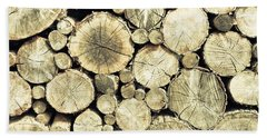 Hand Towel featuring the photograph Chopped Wood by Tom Gowanlock