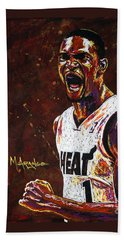 Chris Bosh Bath Towel by Maria Arango