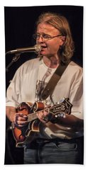 Chris Leslie Of The British Folk Rock Group Fairport Convention Hand Towel