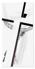 Hand Towel featuring the drawing Christ On Cross by Justin Moore