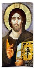 Christ Pantocrator Of Sinai Bath Towel