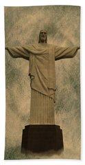 Christ The Redeemer Brazil Hand Towel