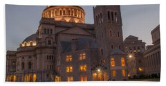 Bath Towel featuring the photograph Christian Science Center 2 by Mike Ste Marie