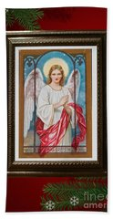 Christmas Angel Art Prints Or Cards Hand Towel by Valerie Garner