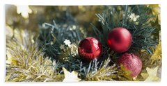 Bath Towel featuring the photograph Christmas Baubles by Jocelyn Friis
