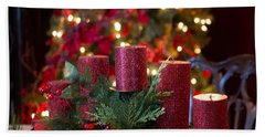 Bath Towel featuring the photograph Christmas Candles by Patricia Babbitt