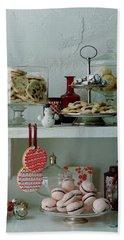 Christmas Cookies And Ornaments Bath Towel