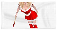 Christmas Elf Elise Bath Towel by Renate Janssen
