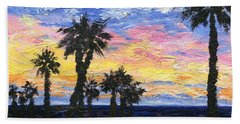Bath Towel featuring the painting Christmas Eve In Redondo Beach by Jamie Frier