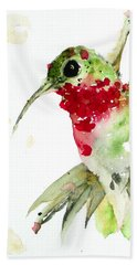 Christmas Hummer Bath Towel by Dawn Derman