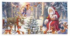Christmas In The Forest Hand Towel