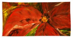 Bath Towel featuring the painting Christmas Star by Jasna Dragun