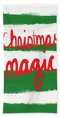 Christmas Magic - Greeting Card Hand Towel