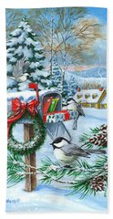 Christmas Mail Hand Towel