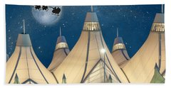 Christmas Night At Denver International Airport Hand Towel