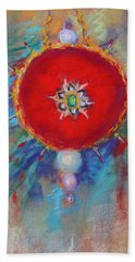 Bath Towel featuring the painting Christmas Ornament 1 by M Diane Bonaparte