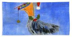 Christmas Pelican Hand Towel
