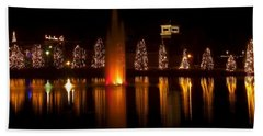 Christmas Reflection - Christmas Card Hand Towel