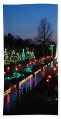 Christmas Reflections Hand Towel by Rodney Lee Williams