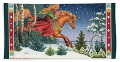 Christmas Ride Bath Towel