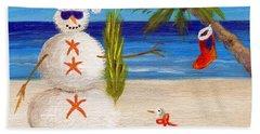 Christmas Sandman Hand Towel