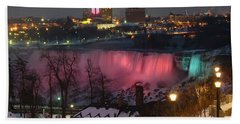 Christmas Spirit At Niagara Falls Hand Towel by Lingfai Leung