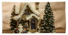 Hand Towel featuring the photograph Christmas Toy Village by Alex Grichenko