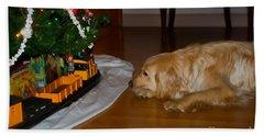 Christmas Train Bath Towel