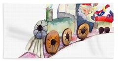 Christmas Train With Santa Claus Bath Towel