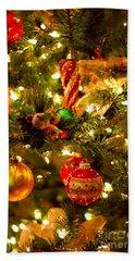 Christmas Tree Background Hand Towel