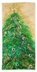 Christmas Tree Gold By Jrr Hand Towel