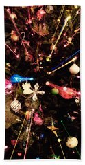 Bath Towel featuring the photograph Christmas Tree Lights by Vizual Studio