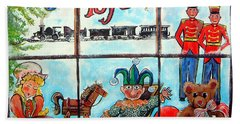Christmas Window Hand Towel by Linda Shackelford